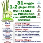 programma della Sagra del prugnolo e dell'asparago selvatico Configni 2019