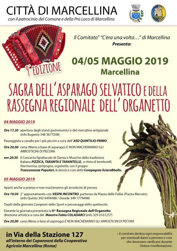 Sagra dell'asparago selvatico Marcellina 2019