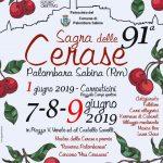 locandina della Sagra delle cerase 2019 Palombara Sabina