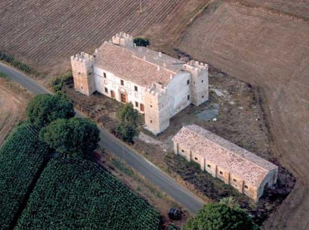castellaccio dei Monteroni visto dall'alto