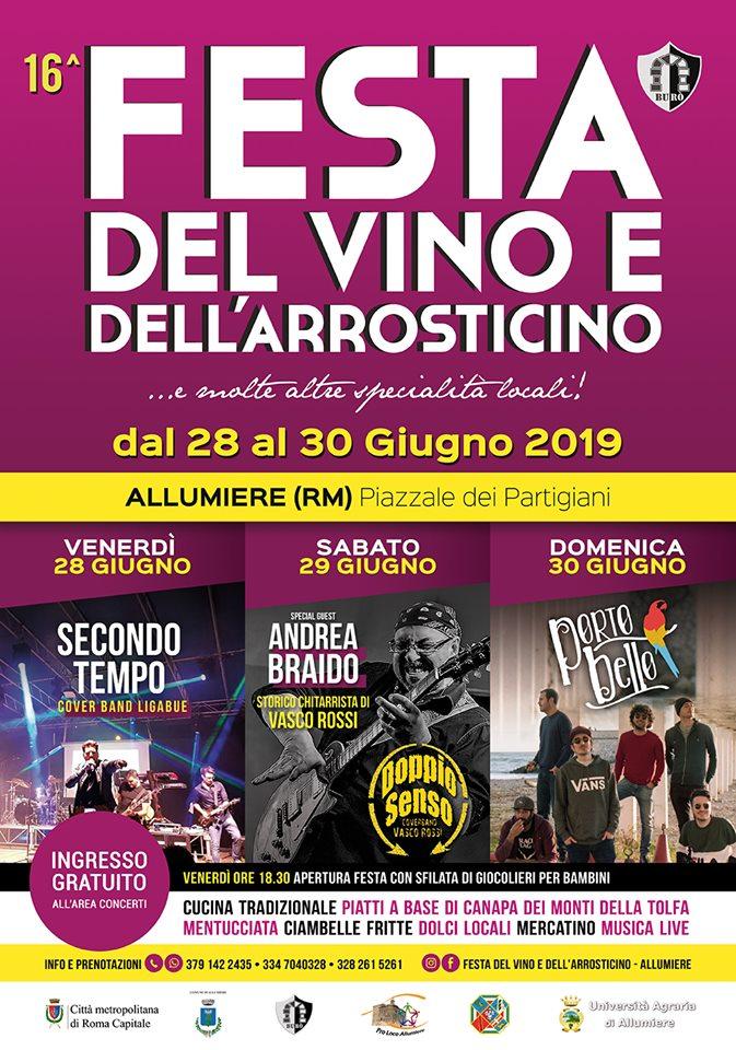 Festa del vino e dell'arrosticino Allumiere 2019