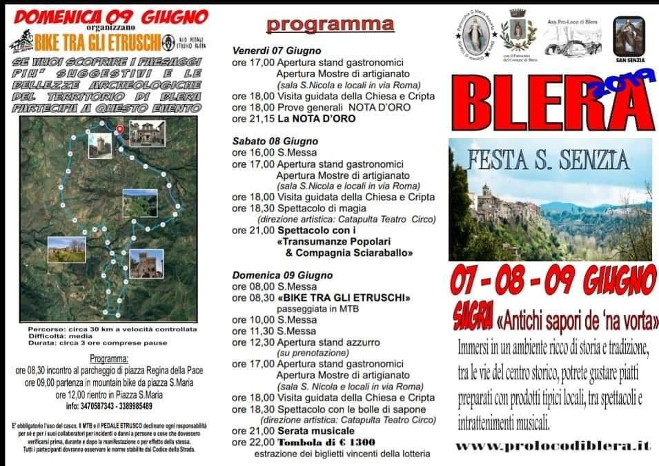 Festa di San Senzia Blera 2019