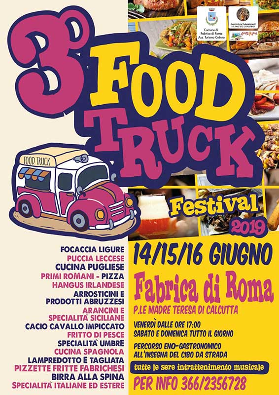 Festival dello street food Fabrica di Roma 2019
