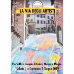 Pittori, cantanti e ballerini in mostra a via Saffi a Viterbo 2019
