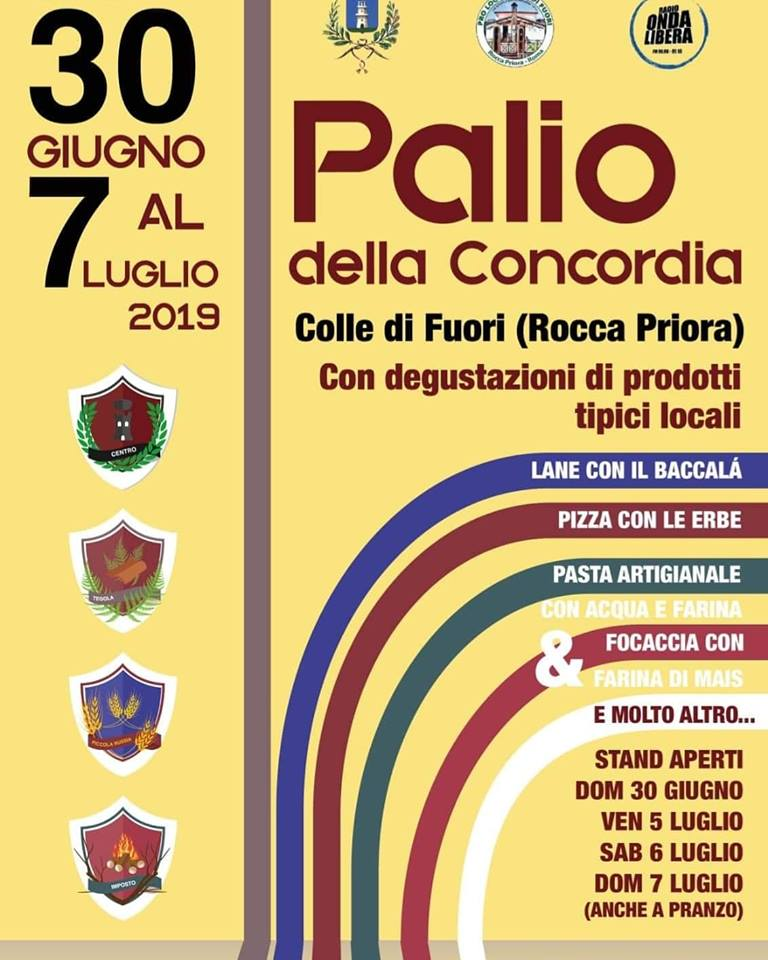 Palio della concordia 2019 Colle di fuori (Rocca Priora)