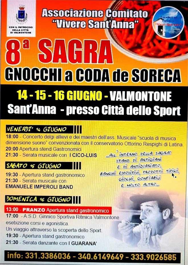 Sagra degli gnocchi a coda de soreca 2019 Valmontone