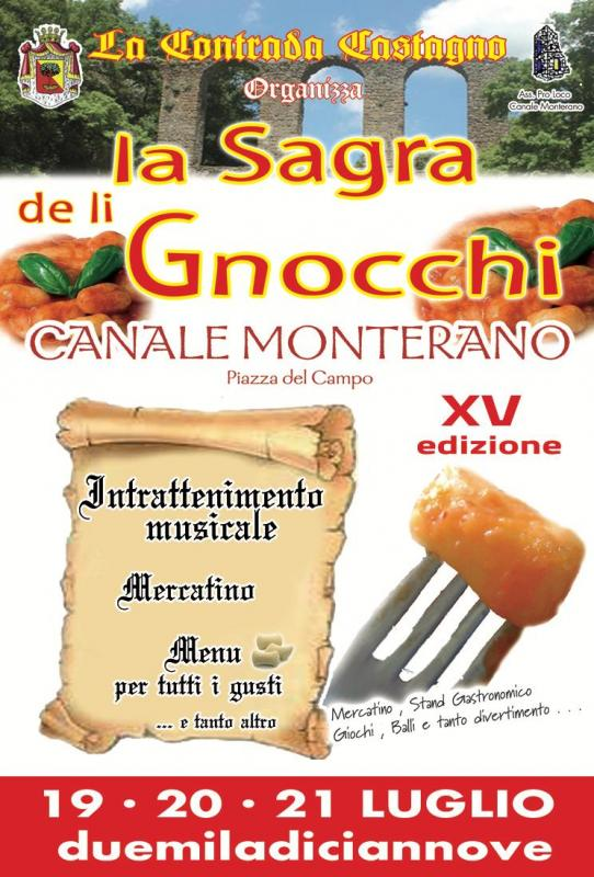 Sagra degli gnocchi Canale Monterano 2019