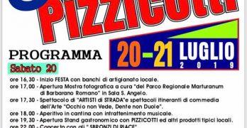 programma della Sagra dei pizzicotti Barbarano Romano 2019
