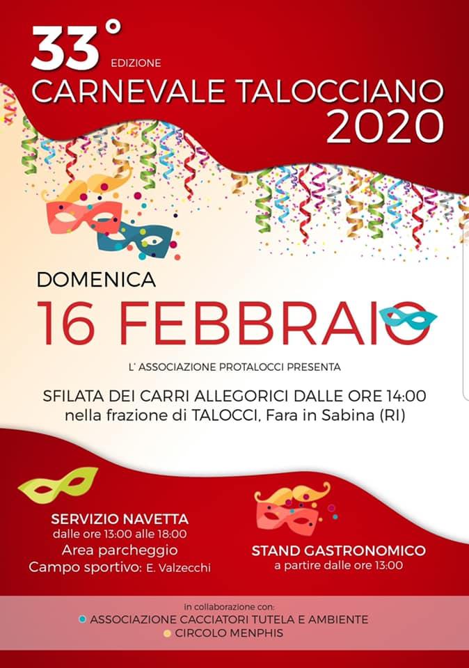 Carnevale 2020 Talocci (Fara in Sabina)