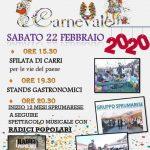 Programma del carnevale di Viticuso edizione 2020