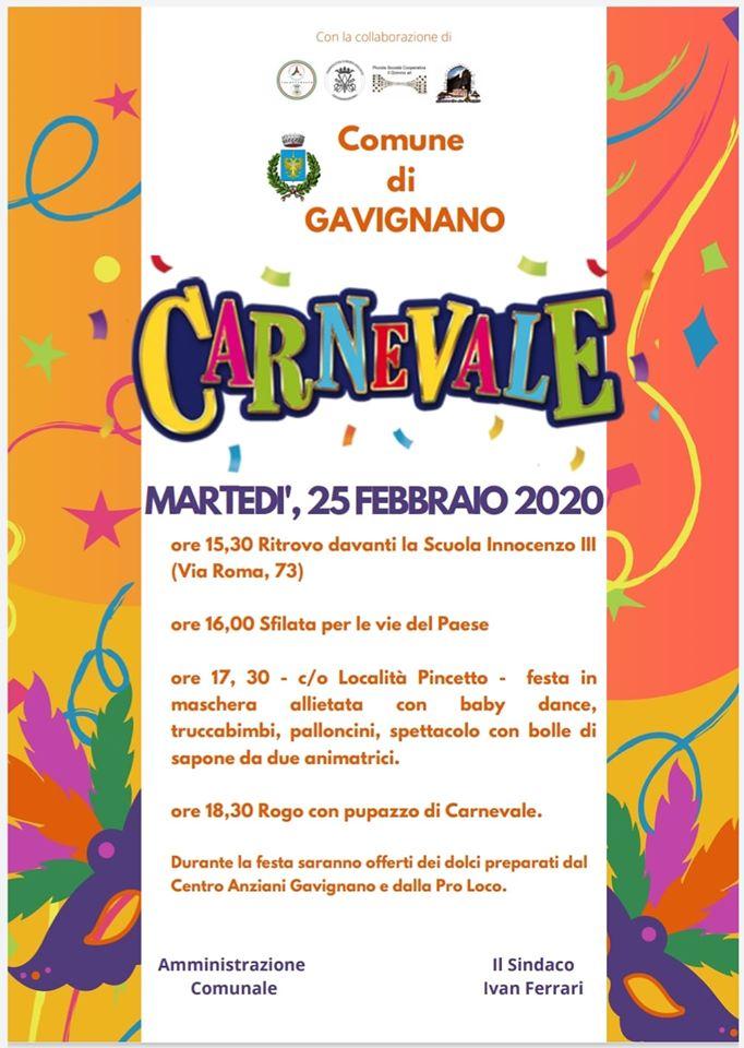 Carnevale 2020 - Gavignano (RM)