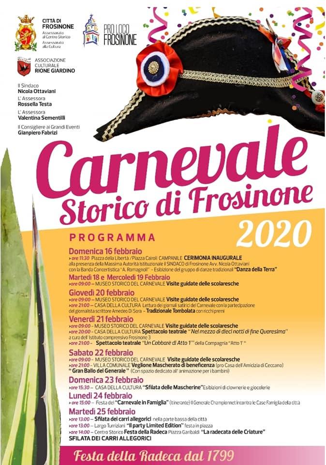 Carnevale 2020 Frosinone