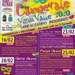 Programma del carnevale 2020 di Vignanello e Vallerano