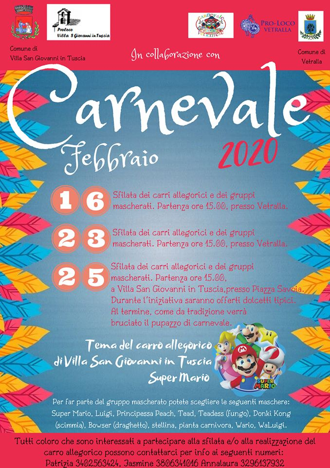 Carnevale 2020 - Villa San Giovanni in Tuscia (VT)